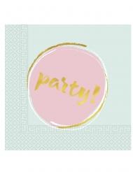 20 tovaglioli di carta party pastello