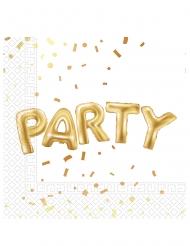 20 tovaglioli di carta Party bianco e oro
