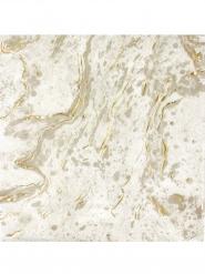 16 tovaglioli di carta effetto marmo bianco e oro