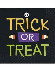 16 tovaglioli di carta scheletro trick or treat
