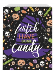 8 sacchetti di carta scheletro trick or treat
