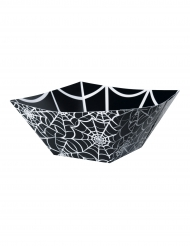 Ciotola quadrata in cartone nera con ragnatela
