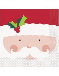 16 tovaglioli di carta agrifoglio natalizio