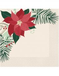 16 tovaglioli di carta stella di Natale rossa e oro