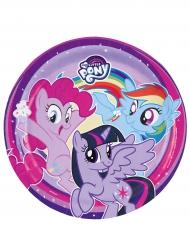 8 piatti viola in cartone My little pony™ 23 cm
