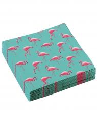 20 tovaglioli di carta Flamingo Paradise