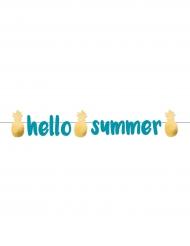 Ghirlanda in cartone Hello Summer blu e oro