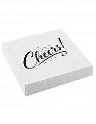 20 tovaglioli di carta bianchi Cheers
