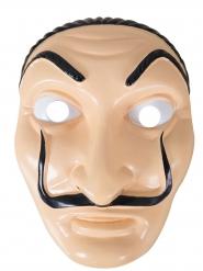 Maschera da bandito artista in plastica adulto