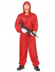 Costume tuta rossa da bandito per adulto