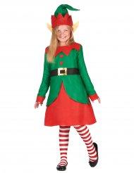 Costume da elfo di Natale per bambina