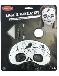 Kit trucco con maschera scheletro