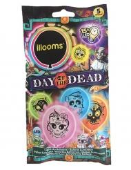 5 palloncini led Illooms™ multicolor Dia de los muertos