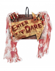 Cartello Enter If You Dare Creepy Carnevil