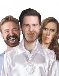 10 finte bocche umoristiche in cartone con smorfie