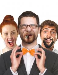 10 finte bocche umoristiche in cartone hipster