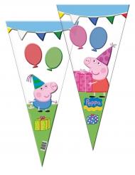 6 sacchetti trangolari in plastica Peppa Pig™