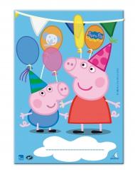 10 sacchetti regalo in plastica Peppa Pig™