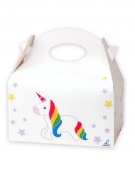 12 scatole in cartone unicorno bianco