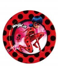 8 piattini in cartone Ladybug™ 18 cm
