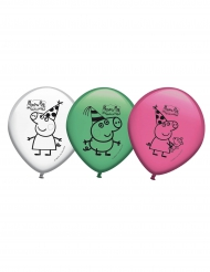 8 palloncini in lattice colorati Peppa Pig™