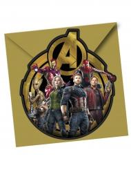 6 inviti per festa con buste Avengers Infinity War™