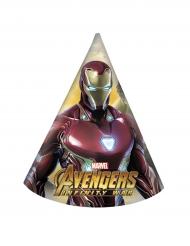 6 cappellini di festa di carta Avengers Inifinity War™