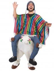 Costume da uomo a cavallo di un lama adulto