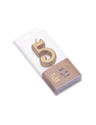 Candelina color oro metellizzato numero 5