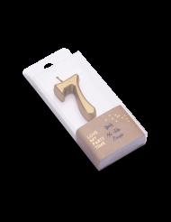 Candelina color oro metellizzato numero 7