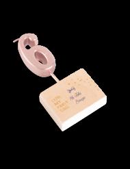 Candelina color oro rosa numero 6
