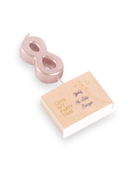 Candelina color oro rosa numero 8