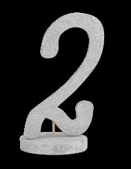Centrotavola in legno color argento numero 2