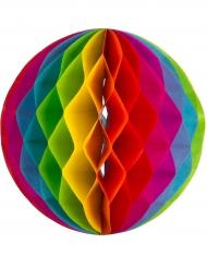 3 sfere in carta alveolata arcobaleno