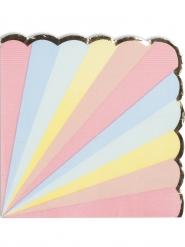 16 tovaglioli di carta pastello bordo oro