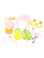 Kit photobooth 9 accessori tropicale