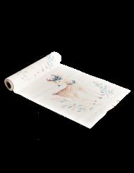 Runner da tavola in lino bianco cerbiatto