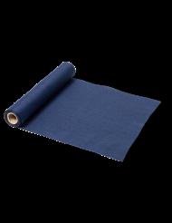 Runner da tavola in lino blu marino
