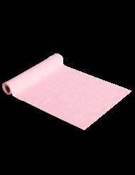 Runner da tavola in lino rosa