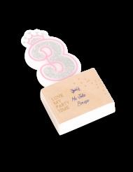 Candelina compleanno principesse numero 3