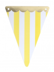 5 gagliardetti circo bordo oro e righe gialle