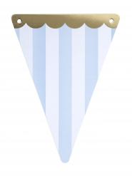 5 gagliardetti circo bordo oro e righe celesti