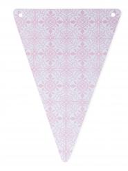 5 gagliardetti in cartone maioliche rosa