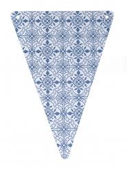 5 gagliardetti in cartone maioliche blu