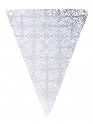 5 gagliardetti in cartone maioliche argento