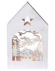 Decorazione bianca casetta in legno