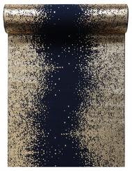 Runner da tavola in cotone blu scintille oro