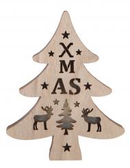 Mini albero di Natale luminoso XMAS in legno