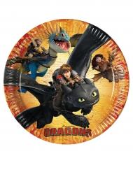 8 piatti di carta Dragon Trainer™