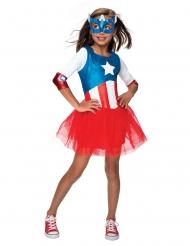 Travestimento da Capitan America™ con tutù per bambina